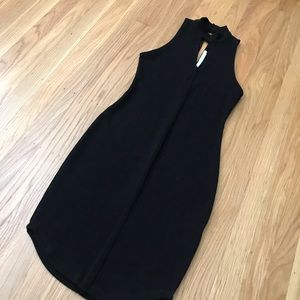 ASTR black bodycon high neck sweater dress XS